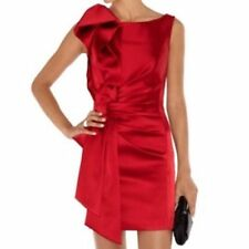 KAREN MILLEN Red Satin Bow Pencil Dress Size 14 - BNWT - WAS £180