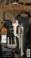 Doc Holliday Single Holster Set 11″ long Solid die cast WITH ORANGE TIP toy gun