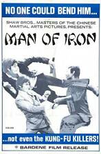 MAN OF IRON Movie POSTER 27x40 Kuan Tai Chen Li Ching Wang Chung Kang Liu Chen