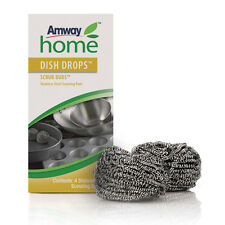 AMWAY Home Dish Drops Cleaner Scrub Buds Stainless Steel Scouring Pads (1x4 PCS)