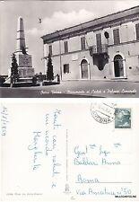 # OSTRA VETERE: MONUMENTO AI CADUTI E PALAZZO COMUNALE   1965