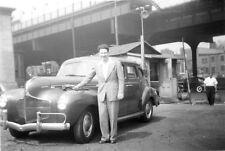 Photo ancienne vintage snapshot automobile voiture car vers 1950