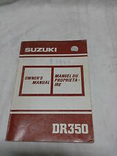 OWNERS MANUAL - SUZUKI DR350 - 1990