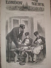 Sailor Princes learning to splice rope 1878 print ref Y1