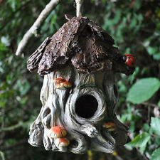 Vintage Mushroom Tree Bird House Nest Garden Ornament Decoration NEW 39255