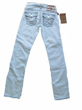 True Religion Denim Hose Jeans Billy Super T Grey Stictch Ghost Train GNL 25