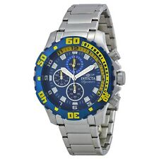 New Invicta Men's 7353 Signature Blue Dial Chronograph Stainless Steel Watch