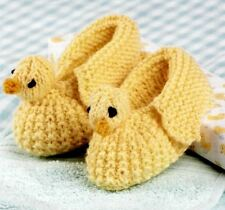 Knitting Pattern Baby Bootees Cute Duck Design