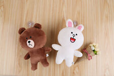 8''  LINE Friends Cony Bunny Brown Bear Figure Stuffed Plush Doll Japan Couple