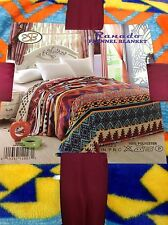 Queen Flannel Blanket Super Soft Feel Comfortable Warm Throw Cover Rare Native