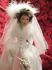 Ashton Drake Porcelain Bride Doll Winter Romance By Sandra Bilotto W /Box & COA