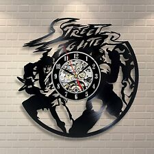 Street Fighter_Exclusive wall clock made of vinyl record_GIFT