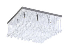 TP24 Piccadilly Knightsbridge 6x3W LED chrome square crystal ceiling light