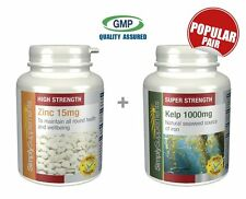 Simply Supplements Zinc 15mg 120 Tablets+Kelp 1000mg 120 Capsules (E205639)