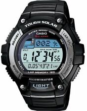 Casio Solar Digital Watch, World Time, 120-Lap, 100 Meter, 5 Alarms, WS220-