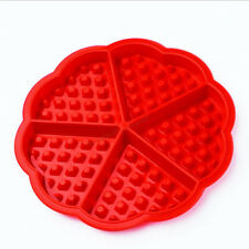 Fashion Red Flower Heart Style Muffin Waffle Cake Chocolate Cookies Baking Mould