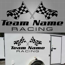 "Race Team Checkered Flag Graphic, Checkered Flag Sticker - 22"" x 48"""