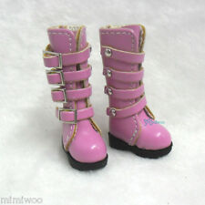 "Mimi Collection 12"" Blythe Pullip Momoko Obitsu 1/6 bjd Shoes Buckle Boots PINK"