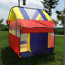 Children Foursquare House Tent For Kids Game The Playhouse City House Play Tent