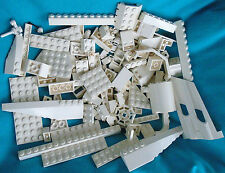 Lot of 100 White LEGO System Building Bricks, Plates, Tiles, Specialty Parts
