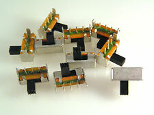 Mini Slide Switch Right Angled PCB Mount SPDT 10 pieces OM559A