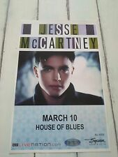 "JESSE MCCARTNEY Concert Poster San Diego HOUSE OF BLUES 11""x17"""