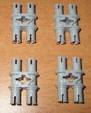 Lego Technik 4 Verbinder 2fach Doppel Pin Kreuz 32138 neu hell grau