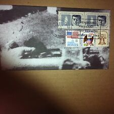 50th ANNIV. ASSASSINATION OF PRES. KENNEDY-HANDMAKE ENVELOPE-FULL COVER CACHET