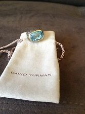 DAVID YURMAN Silver Cable 18K Gold Modern Noblesse Ring NEW $895