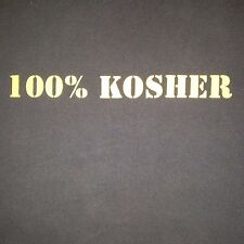 VINTAGE 100% KOSHER - MADE IN ISRAEL NAVY BLUE T SHIRT LARGE