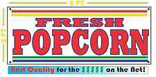 FRESH POPCORN BANNER Sign NEW Larger Size for Fair Carnival Carmel Pop Corn