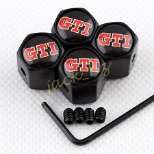 Antitheft BLACK Wheel Tire Tyre Valve Stem Air Cap FOR VW GTI GOLF MK6 MK7 POLO