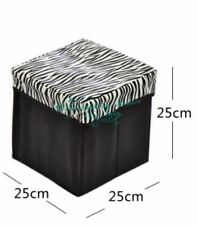 Multipurpose Storage Stool Canvas Foldable Kids Storage Box Cum Stool Upto 80Kgs