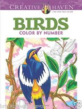 Birds Colour By Number Adult Colouring Book Turkey Crow Owl Raven Wings Flight