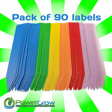 "Plant Labels - Multi Colored 4"" Plant Marker Label Stakes - Pack of 90"