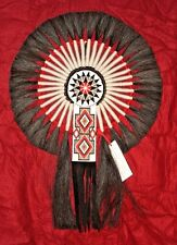 "Horsehair Bustle w Beadwork Navajo Native American Indian Regalia 17x24"" #17"
