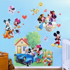 Dibujos animados Mickey Minnie Mouse 3D Adhesivo Pared PVC Calcamonías De Vinilo