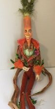 "Katherine's Collection Retired 26"" Carrot Vegetable Tabletop Display Doll"