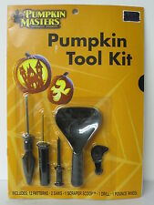 HALLOWEEN PUMPKIN CARVING KIT CLASSIC TYPE 12 STENCILS 5 TOOLS NEW