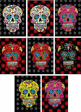 Halloween Day of the Dead flower sugar skull heads tags cards ATC scrapbook