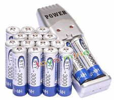 16x 2A AA 3000mAh 1.2 V Ni-MH BTY Rechargeable Battery Cell + AA/AAA USB Charger