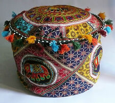 Pouffe Cover Elephant Patchwork Beanbag Embroidered Indian