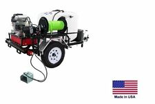 PRESSURE WASHER Jetter - Trailer Mounted - 200 Gal - 5.5 GPM - 3500 PSI - 18 Hp