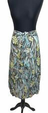 GERRY WEBER Skirt Size 14 Grey Blue Green Floral L30IN Tropical Party