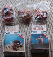 Vintage Asterix figuras de acción 38167 38171 como nuevo en caja sellada en bolsas