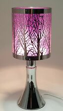 Fragrance ** Stainless Steel Table Touch Lamp Tree (Purple) Silver color