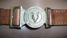 Scout belt buckle wolf. Rare.