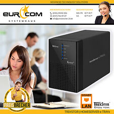 Trekstor HomeServer e-trayz Gigabit LAN 2-bay NAS Server DDNS Media Server NUOVO