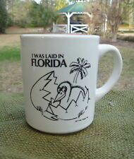 Vintage 1977 Mr. Mugs I WAS LAID IN FLORIDA Pelican Bird Hatching Egg Cup Mug
