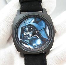 "STAR WARS,""Darth Vader"" Military Dial,Black Suede Band BIG MEN'S WATCH,1034 L@@K"